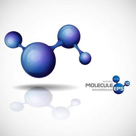 3 d 分子背景。ベクトル イラスト。  イラスト・ベクター素材