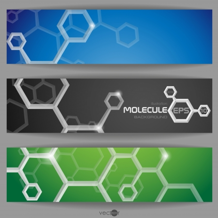 Molecule Abstract  Banner.  Vector illustration. Vector