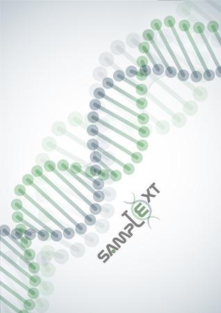 DNA 분자 배경입니다. 벡터 일러스트 레이 션. 스톡 콘텐츠 - 23260531