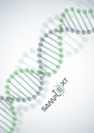 DNA Molecule Background.  Vector Illustration. Stock Vector - 23260531