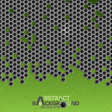 Hexagon Metal Background.  Vector Illustration. Stock Vector - 23260539