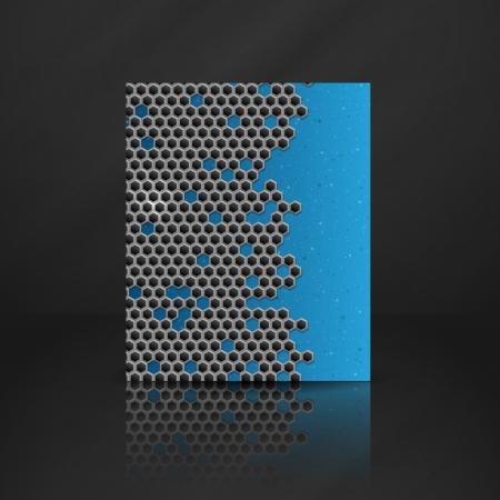 Hexagon Metal Banner.
