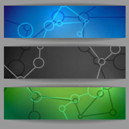 Molecule Abstract Banner. photo