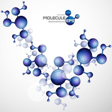 dna background: 3d Molecule Background. Vector Illustration. Eps 10.