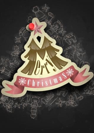 Christmas Sticker. Christmas And New Year Symbols. photo