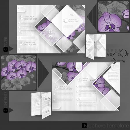 Brochure Template Design.  Vector Illustration. Eps 10. Zdjęcie Seryjne - 25158534