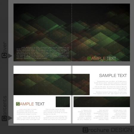 Brochure Template Design.  Vector Illustration. Vector