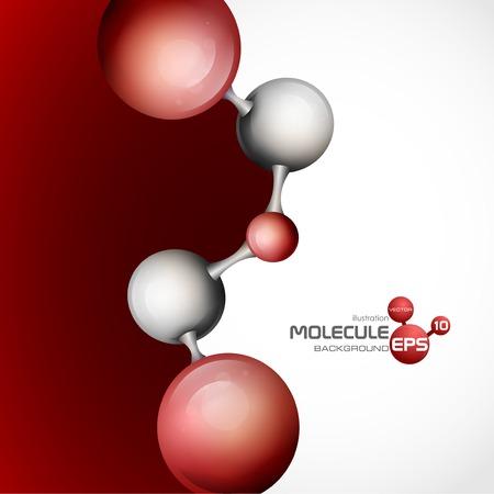 3 차원 분자 배경입니다. 벡터 일러스트 레이 션. 일러스트