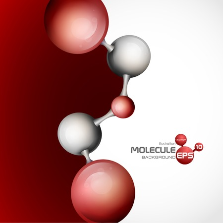 3D-Molekül-Hintergrund. Vektor-Illustration. Standard-Bild - 25159066