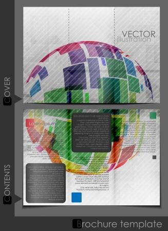 Brochure Template Design.  Vector Illustration.