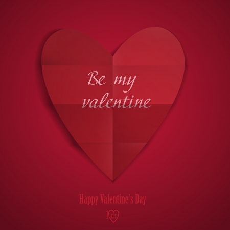 greeting: Happy Valentines Day.  Vector Illustration.