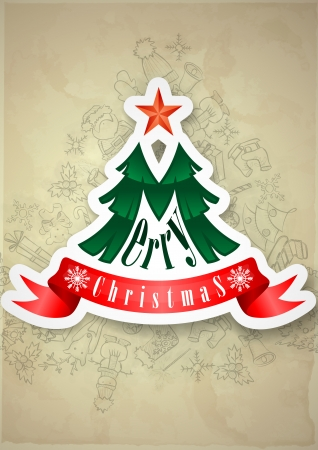 Christmas Sticker. Christmas And New Year Symbols. photo