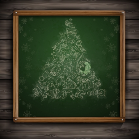 Hand Drawn Christmas Set. Christmas And New Year Symbols. photo