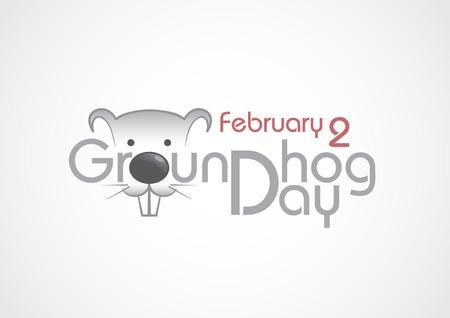 marmot: Groundhog Day, Text.  Illustration