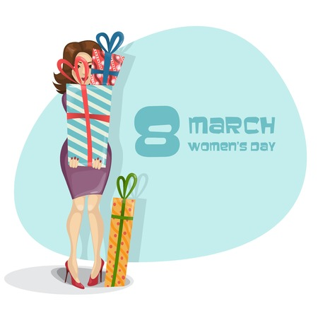 march 8: Happy Womens Day, March 8.