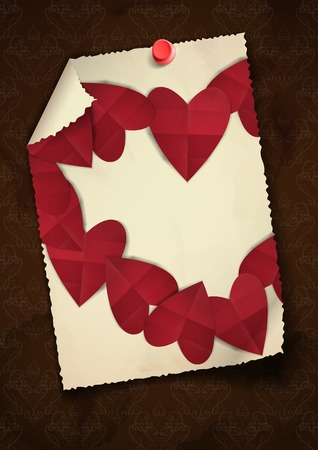 Greeting Card Design, Template. Happy Valentines Day. photo