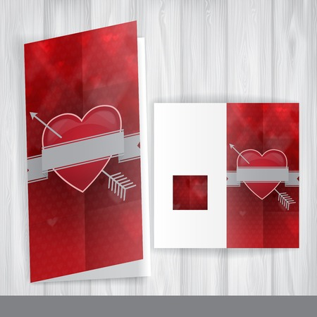 Greeting Card Design, Template. Happy Valentines Day.