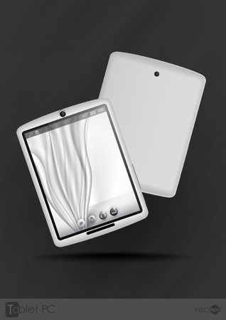 Tablet Computer & Mobile Phone. Vector Illustration. Eps 10. Vector