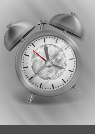 Metal Classic Style Alarm Clock. photo