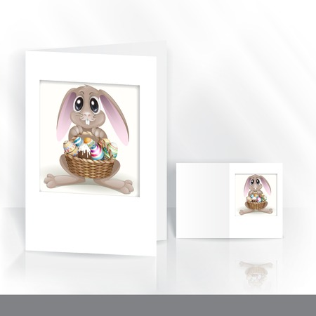 Happy Easter Background. Greeting Card Design, Template.