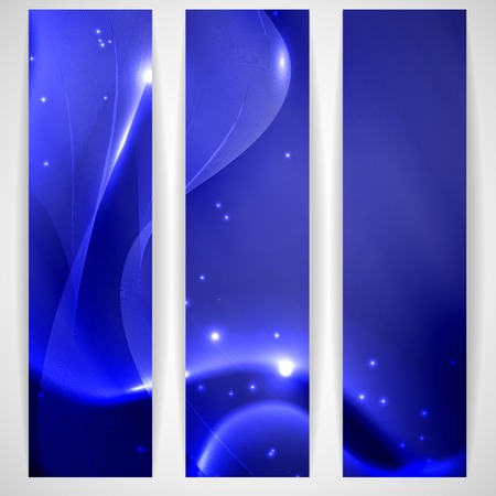emitter: Blue Abstract Banner. Stock Photo