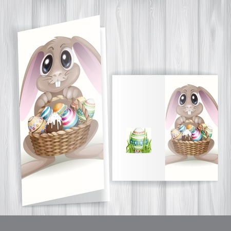 Happy Easter Background. Greeting Card Design, Template. photo