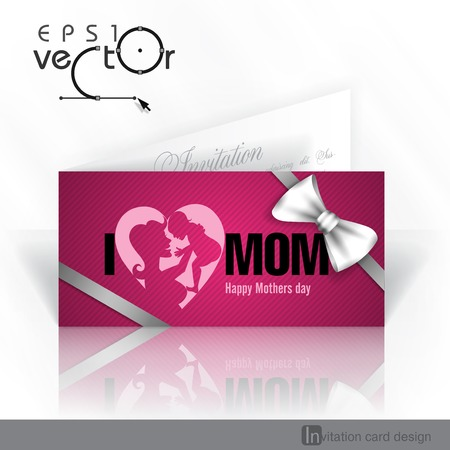 open day: Invitation Card Design, Template. Happy Mothers Day.