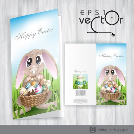 Happy Easter Background. Greeting Card Design, Template. Vector Illustration. Eps 10. Vector