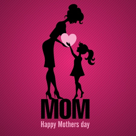Happy Mothers Day.  Vector