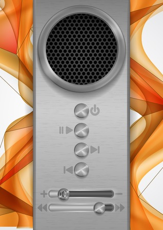 Abstract Speaker Concept Design. photo