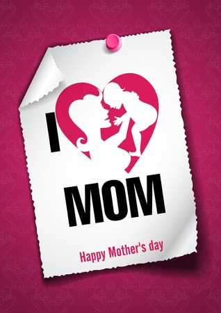 mothers day: Greeting Card Design, Template. Happy Mothers Day.