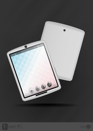 Tablet Computer & Mobile Phone.  Vector