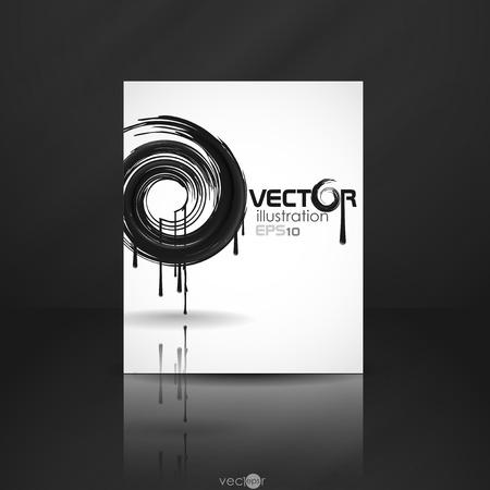 Black Paint Splashes Circle.  Vector
