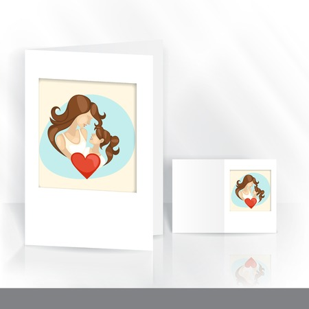 Greeting Card Design, Template. Happy Mothers Day.