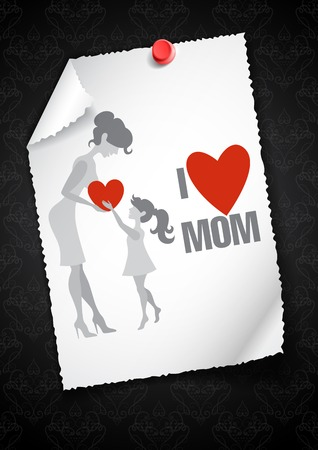 Greeting Card Design, Template. Happy Mother's Day.
