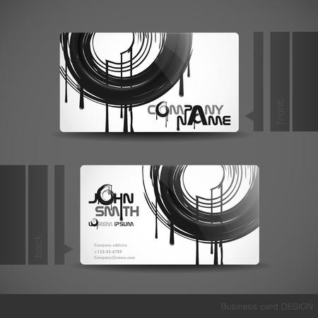 Business Card Design.  Vector Illustration. Eps 10 Vector