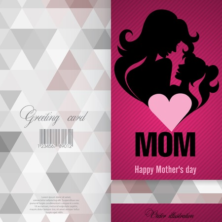 Greeting Card Design of Happy Mothers Day
