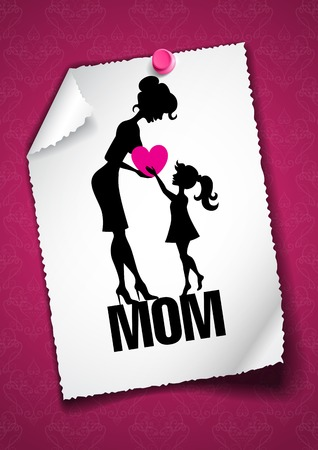 Greeting Card Design, Template. Happy Mother�s Day. photo