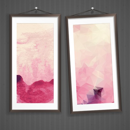 Colorful Abstract Banner. photo