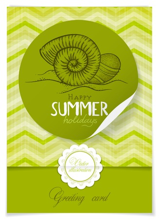 Greeting Card Design, Template.  Vector