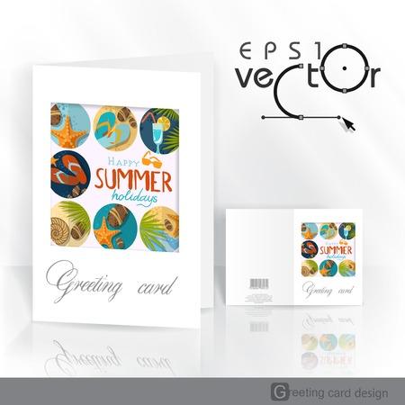 flipflops: Greeting Card Design, Template.