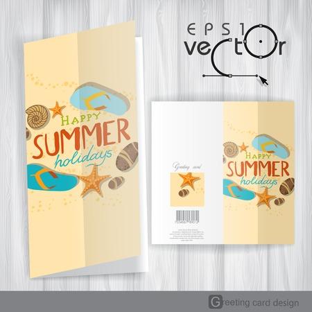Greeting Card Design, Template. Vector Illustration. Eps 10 Illustration