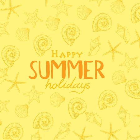 background vector: Summer Holidays Background. Vector Illustration. Eps 10