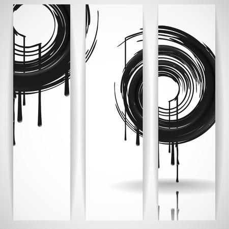 Black Paint Splashes Circle photo