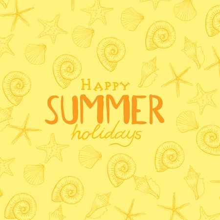 shell pattern: Summer Holidays Background