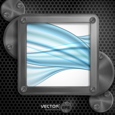 metallic: Metallic Frame With Screws Stock Illustratie