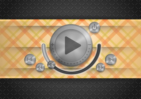 Abstract Technology App Icon With Music Button photo
