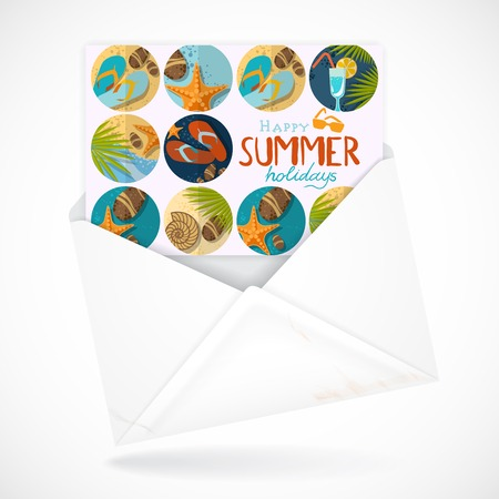 Postal Envelopes With Greeting Card photo