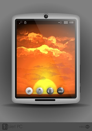 Tablet Computer, Mobile Phone Vector