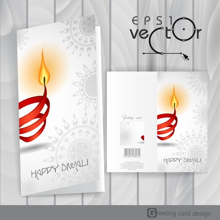 Greeting Card Design, Template Vector